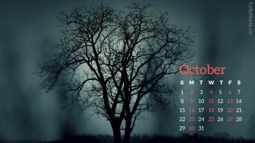 Halloween October Calendar Desktop Wallpaper